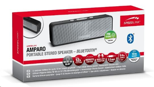 SPEED LINK Bluetooth reproduktor SL-890008-BK AMPARO Portable Stereo